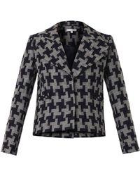 Carven Oversizedhoundstooth Wool Jacket - Lyst