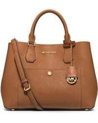 Michael Kors Greenwich Large Saffiano Leather Tote - Lyst