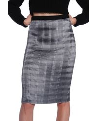 Alexander Wang Pleat Pencil Skirt - Lyst