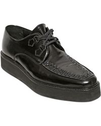 Iceberg - Brushed Calf Leather Creepers - Lyst