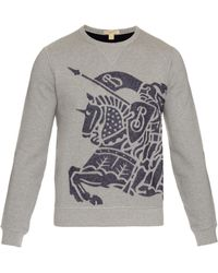 Burberry Brit - Cotton And Wool-blend Sweatshirt - Lyst