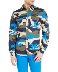 Love Moschino Camouflage Sport Shirt - Lyst