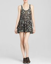 Free People Dress - Printed Lace Trapeze - Lyst