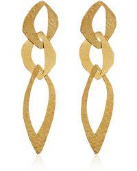 Herve Van Der Straeten - Goldplated Cut Out Tiered Earrings - Lyst
