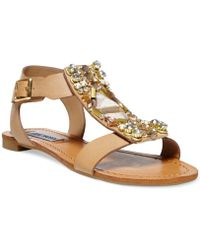 Steve Madden Women'S Wiktor Embellished Flat Sandals - Lyst