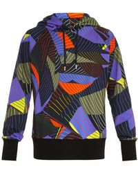 Christopher Kane - Striped Paper-print Hooded Sweatshirt - Lyst