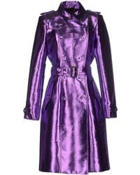 Burberry Prorsum Full-Length Jacket purple - Lyst
