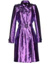 Burberry Prorsum Full-Length Jacket purple - Lyst