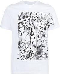 McQ by Alexander McQueen Angry Bunny Cartoon Print Tshirt - Lyst