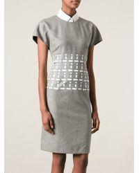 Fendi Printed Waist Dress - Lyst