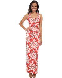 Nicole Miller Origami Jersey Maxi Dress - Lyst