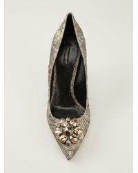 Dolce & Gabbana Bellucci Brocade Pumps - Lyst