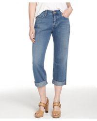 MiH Jeans Jones Blue 'The London' Boy Crop Slouchy Jeans - Lyst