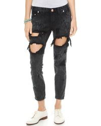 One Teaspoon Le Hawk Trashed Jeans Le Hawk - Lyst