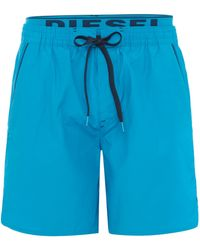 Diesel Mid Length Swim Short with Waistband - Lyst