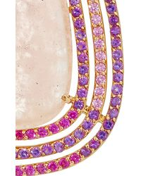 """Shawn Ames - One-Of-A-Kind """"Rainbow Pear"""" Morganite, Pink Sapphires And Amethyst Earrings - Lyst"""