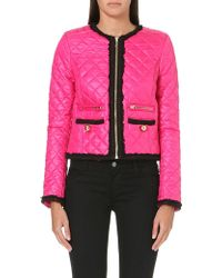 Juicy Couture Quilted Zip Front Jacket - Lyst