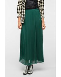 Sparkle & Fade - Pleated Chiffon Maxi Skirt - Lyst