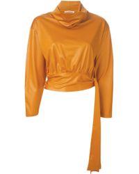 Issey Miyake Roll Neck Sweater orange - Lyst