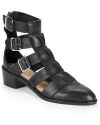 Loeffler Randall Yara Leather Gladiator Ankle Boots - Lyst
