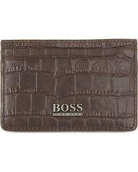 Hugo Boss Saintpete Croc-Embossed Card Holder - For Men - Lyst