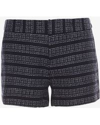 Joie Striped Woven Shorts - Lyst