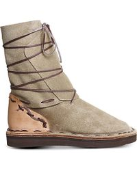 Chamula - Inuit Leather Boots - Lyst