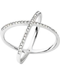 Michael Kors Pavé X Ring - Lyst