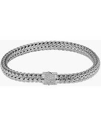 John Hardy 'Classic Chain' Diamond Small Bracelet - Lyst