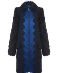 House of Holland - Wool A- Line Coat - Lyst