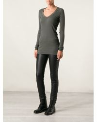 DRKSHDW by Rick Owens Long Fitted Top - Lyst