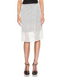 Victoria Beckham Fold Skirt - Lyst