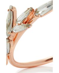 Ryan Storer Open Cuff With Swarovski Crystal Details - Pink