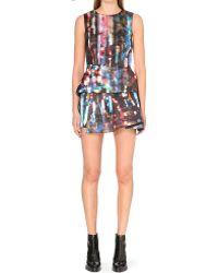 McQ by Alexander McQueen Abstract Print Peplum Dress - Lyst