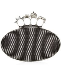 Alexander McQueen Studded Knuckle Oval Clutch - Lyst