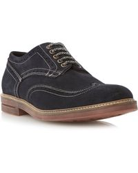 Dune Birdcage Brick Sole Suede Lace Up Brogues - Lyst