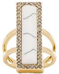 House Of Harlow Reflector Bar Ring - Lyst