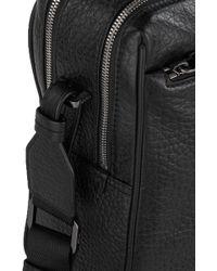 HUGO Leather Bag: 'dollar_s Doc' - Black