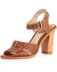 Frye Sofia Seamed Leather Sandal - Lyst