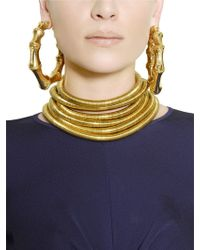 Balmain - Gold Plated Brass Earrings - Lyst