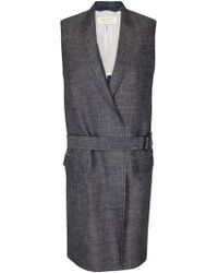 Rag & Bone Harold Vest gray - Lyst