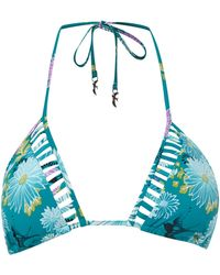 Seafolly Songbird Slide Triangle Bikini Top - Lyst