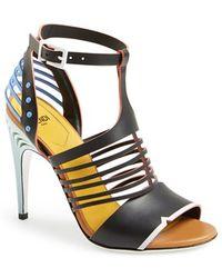 Fendi Cage Ankle Strap Sandal - Lyst