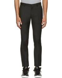 Calvin Klein Black Wool Exact Trousers - Lyst