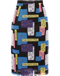 Christopher Kane Abstract Lace Pencil Skirt - Lyst