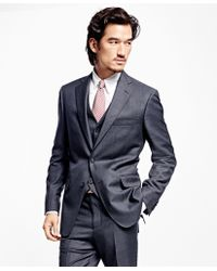 Brooks Brothers Regent Fit Three-piece Screen Weave 1818 Suit - Gray