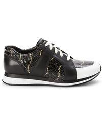 Enzo Angiolini - Black & White Reeber Sneakers - Lyst