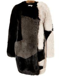 Preen Fox Fur Coat - Lyst
