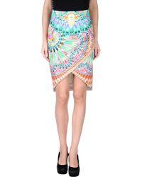 Manish Arora Knee Length Skirt green - Lyst