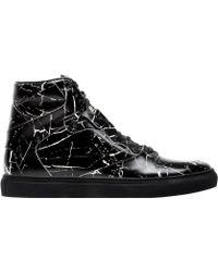Balenciaga | Marble High Sneakers | Lyst